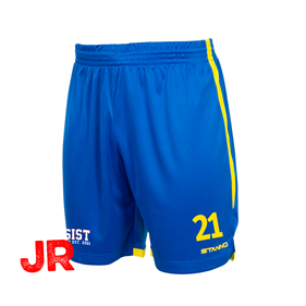 STANNO FOCUS SHORTS ROYAL-YELLOW JR 128 CL