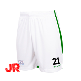 STANNO FOCUS SHORTS WHITE-GREEN JR 116 CL
