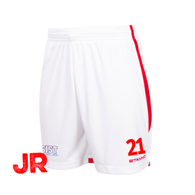 STANNO FOCUS SHORTS WHITE-RED JR 116 CL