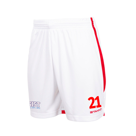 STANNO FOCUS SHORTS WHITE-RED L