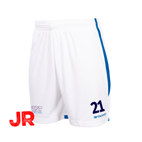 STANNO FOCUS SHORTS WHITE-ROYAL JR 116 CL
