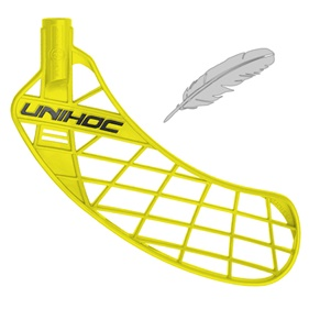 UNIHOC UNITY FEATHER LIGHT NEON YELLOW, MEDIUM RIGHT