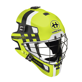 UNIHOC GOALIE MASK UNIHOC SUMMIT 44 FEATHER NEON YELLOW