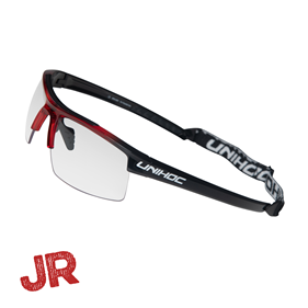 UNIHOC EYEWEAR ENERGY JUNIOR CRYSTAL RED/BLACK