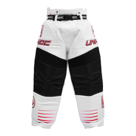 UNIHOC GOALIE PANTS INFERNO WHITE/NEON RED L