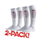 ASSIST MATCHSTRUMPA VIT 2-PACK EUR 31/34