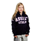 ASSIST STHLM ZIP HOOD JR NAVY 128 CL