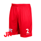 STANNO FIELD SHORTS JR RED 128 CL