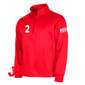 STANNO FIELD TOP HALF ZIP JR RED 128 CL