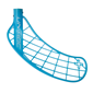 UNIHOC PLAYER+ FEATHER LIGHT ICE BLUE LEFT